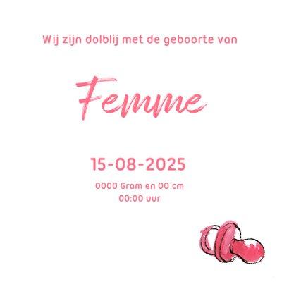 Geboortekaart meisje 3