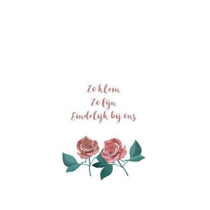 Geboortekaart met rozen 2