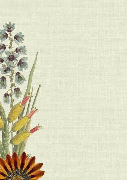 Geboortekaart met vintage bloemen en vlinders 2
