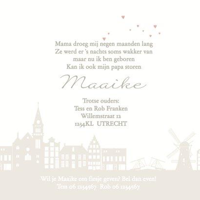 Geboortekaart ooievaar holland m 3