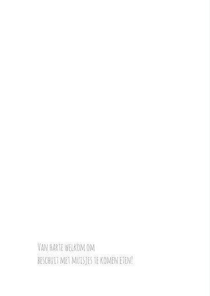 Geboortekaart roze typografie-BC 2
