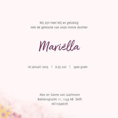 Geboortekaart roze/zalm met stippen en eigen foto 3