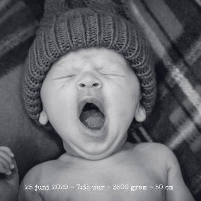 Geboortekaart stoere hippe fotokaart met sterren kraft-stijl 2
