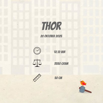 Geboortekaart superheld boy 3