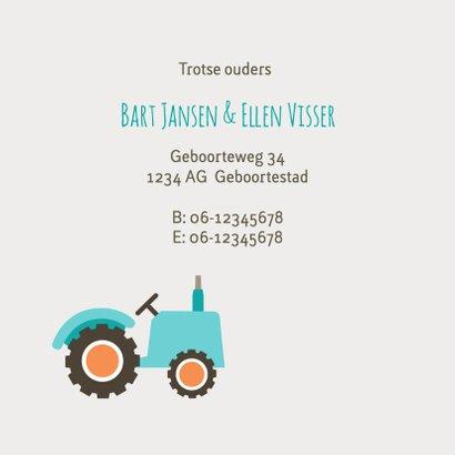 Geboortekaart tractors 2
