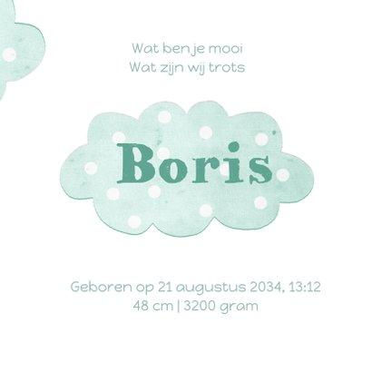 Geboortekaart wolken  3