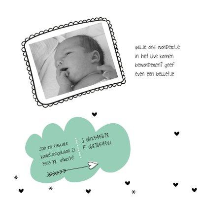 Geboortekaart Wolkje mint 2