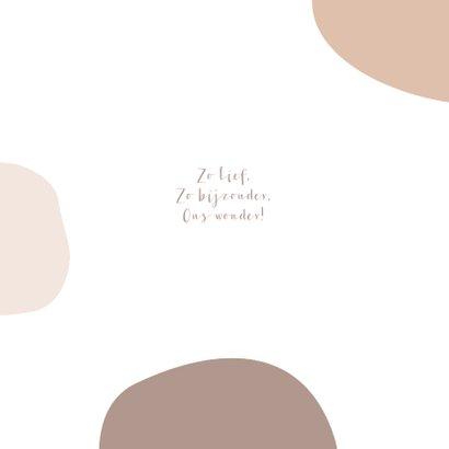 Geboortekaartje abstract voor een meisje in nude 2