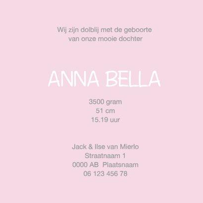 Geboortekaartje Annabel kalk 3
