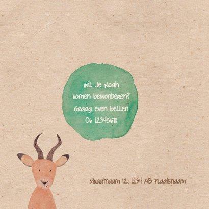 Geboortekaartje  antilope in waterverf 2