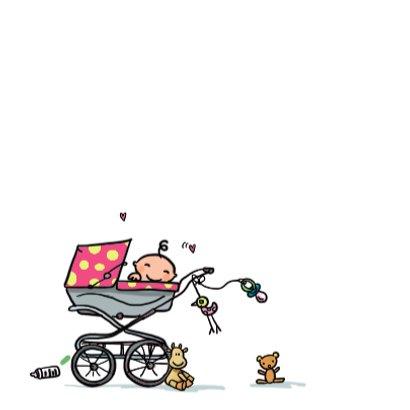 Geboortekaartje auto roze 3