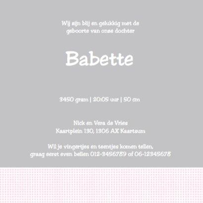 Geboortekaartje Babette - LOVZ 3