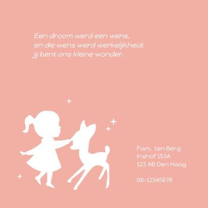 Geboortekaartje Bambi Silhouet 2