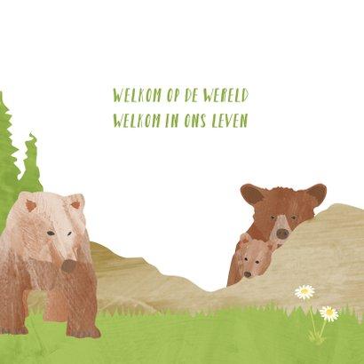 Geboortekaartje beren in de bergen 2
