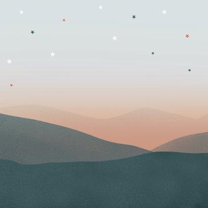 Geboortekaartje beren zusje broertje familie sterren maan Achterkant