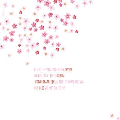 Geboortekaartje bloesemboom voor een meisje 2
