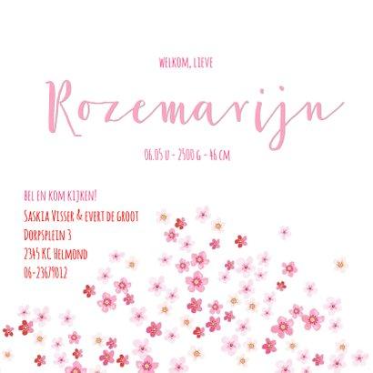 Geboortekaartje bloesemboom voor een meisje 3