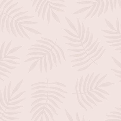 Geboortekaartje botanisch patroon trendy roze Achterkant