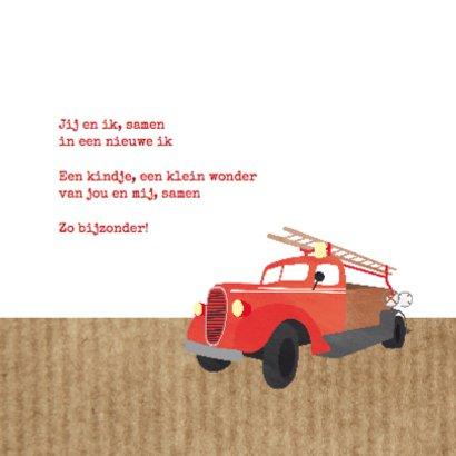 Geboortekaartje brandweerauto  2