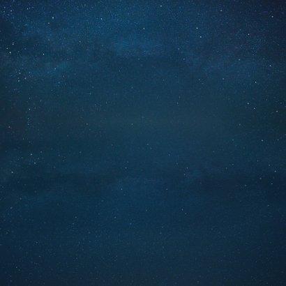 Geboortekaartje broertje silhouet hand in hand met maan Achterkant