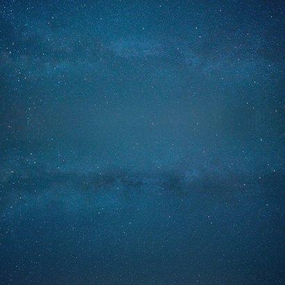 Geboortekaartje broertje silhouet met zussen in volle maan Achterkant