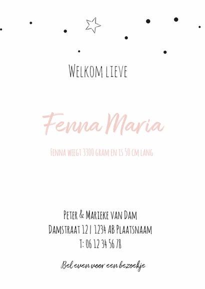Geboortekaartje confetti Fenna 3