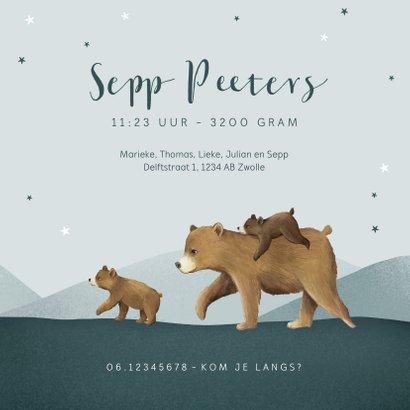 Geboortekaartje dieren beren beestenboel broertje sterren 3