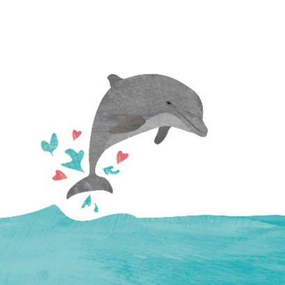 Geboortekaartje dolfijn 2