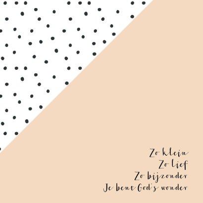 Geboortekaartje dots, aanpasbare kleur 2