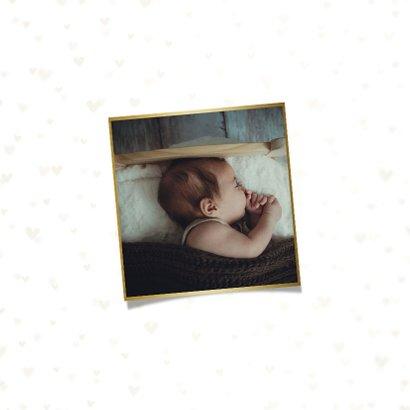 Geboortekaartje dwarrelhartjes goudlook 2