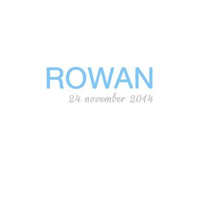 Geboortekaartje Foto Rowan 3
