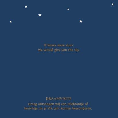 Geboortekaartje foto sterren maan jongen 2