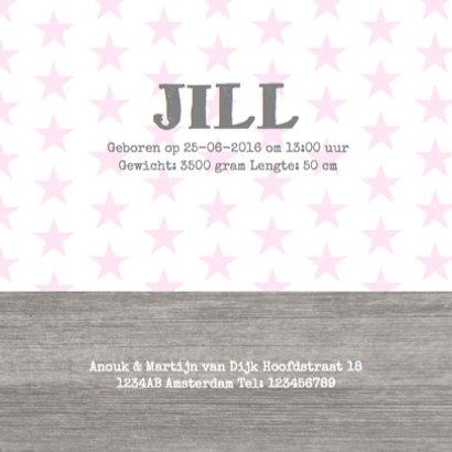 Geboortekaartje Girl Stars 3