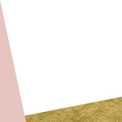 Geboortekaartje goud aanpasbare achtergrondkleur Achterkant