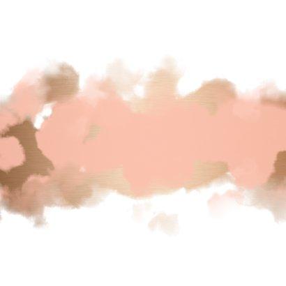 Geboortekaartje goudlook met waterverf Achterkant