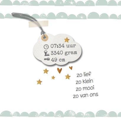 Geboortekaartje halve wolkjes mint groen - LO 2