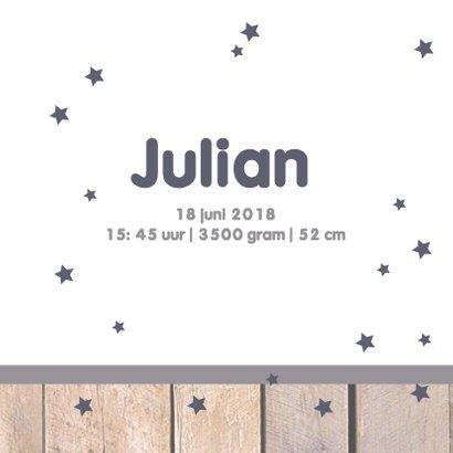 Geboortekaartje hangtag Julian 3
