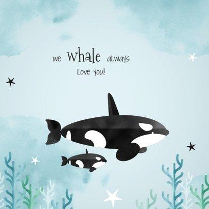Geboortekaartje hip lief dieren orca zee ocean  2