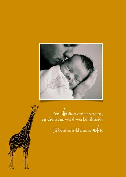 Geboortekaartje hip lijntekening giraf 2