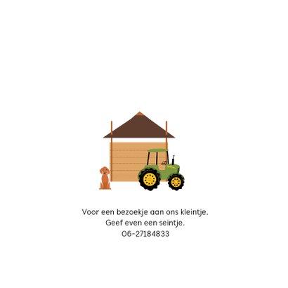 Geboortekaartje hooiberg met tractor 2