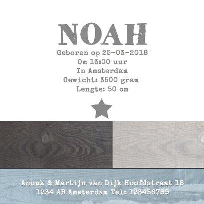 Geboortekaartje houtprint boy 3