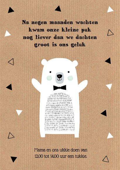 Geboortekaartje ijsbeer kraft jongen 2