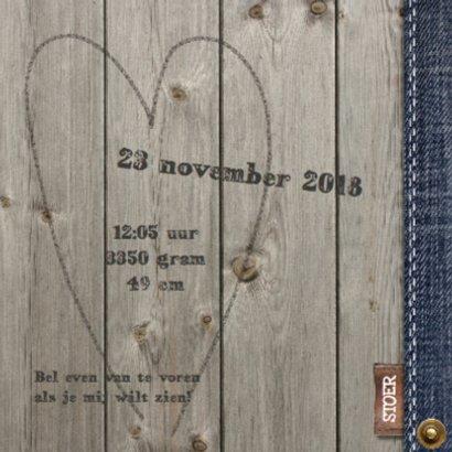 Geboortekaartje Jayden hout - LOVZ 2