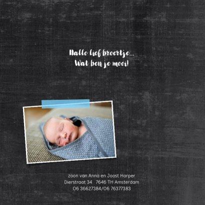 Geboortekaartje jongen hip 2