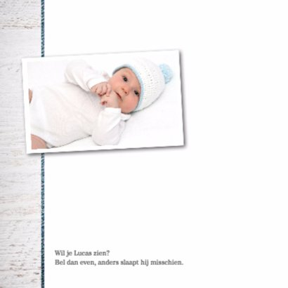 Geboortekaartje jongen Lucas 2