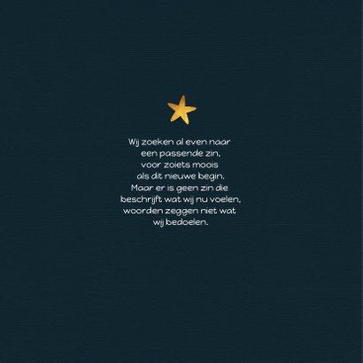 Geboortekaartje jongen met sterren en eigen foto 2