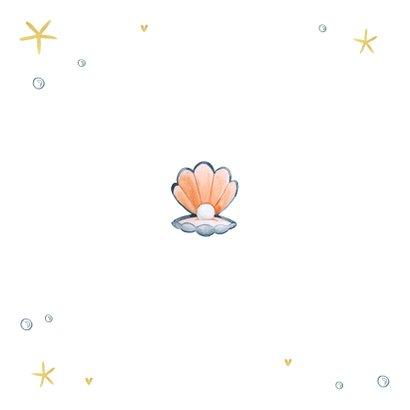 Geboortekaartje jongen octopus oceaan sterren hartjes Achterkant