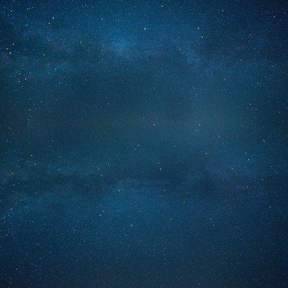 Geboortekaartje Jongen - silhouet met maan en sterren Achterkant