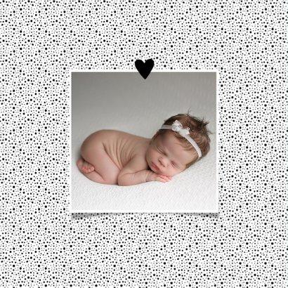 Geboortekaartje klassiek en hip met eigen foto 2