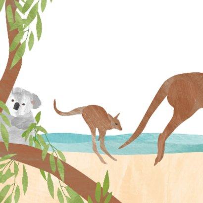 Geboortekaartje koala kangoeroe 2